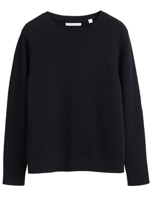 the boxy cashmere jumper - black