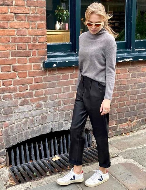 MDK Iris Leather Black Trousers