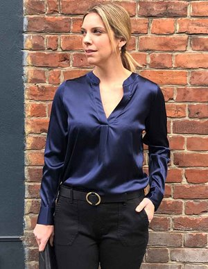 Dea Kudibal santena silk tunic top - navy