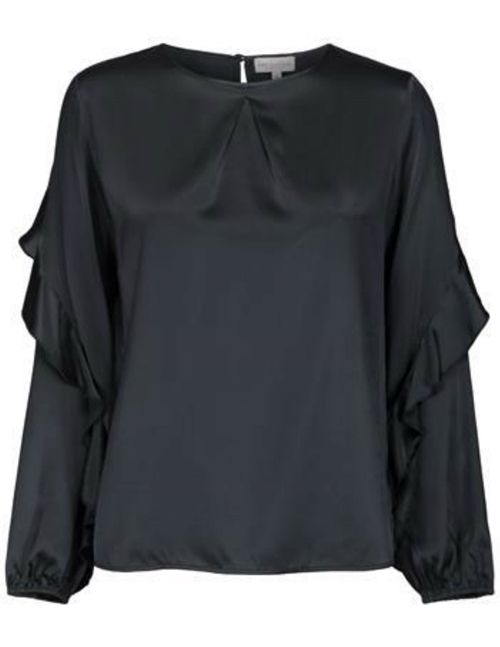 Dea Kudibal gloria silk tunic - anthracite black