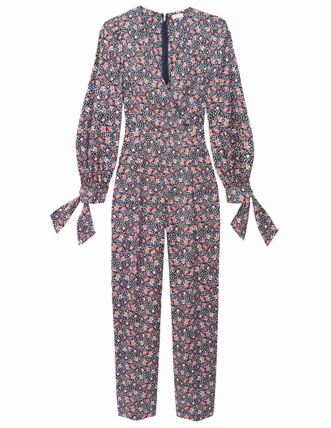 Rebecca Taylor twilight long sleeve jumpsuit - dark navy side
