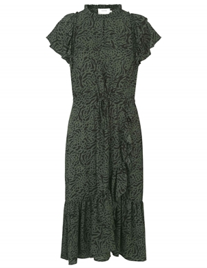 Munthe Ernie Dress - Army Green back