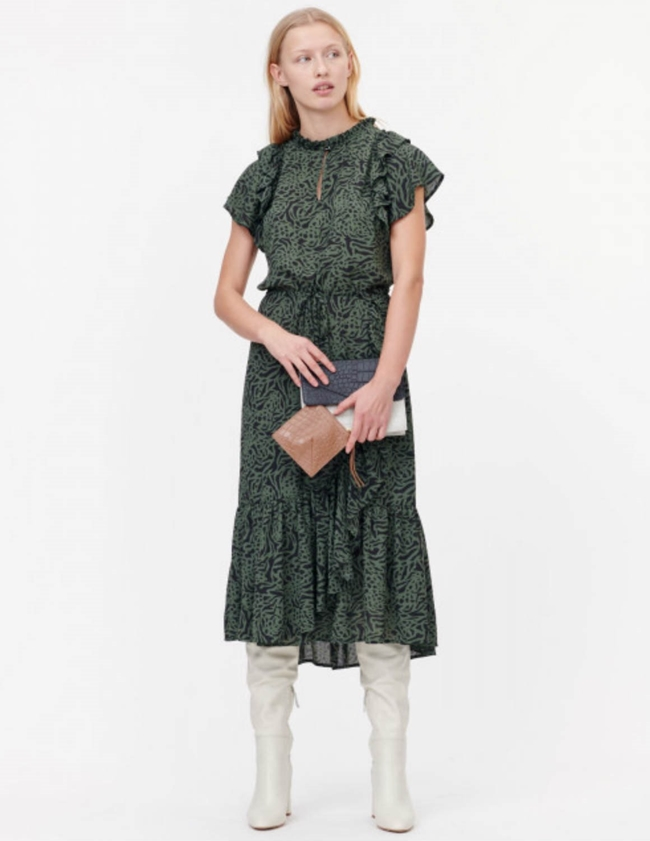 Munthe Ernie Dress - Army Green