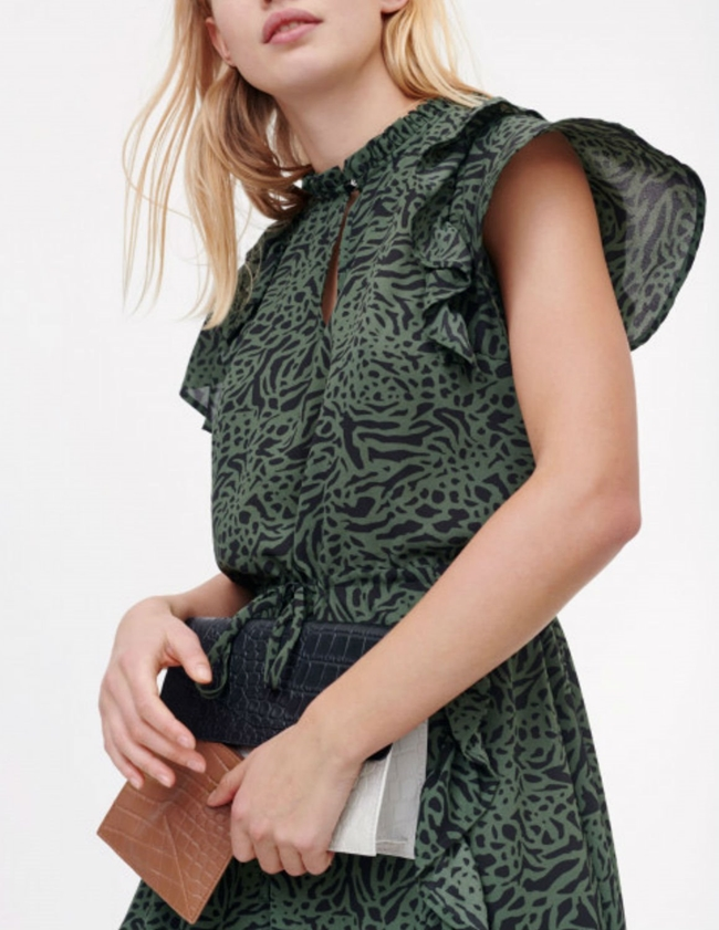 Munthe Ernie Dress - Army Green side