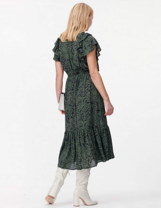 Munthe Ernie Dress - Army Green detail
