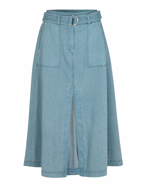 enjoy denim midi skirt - blue