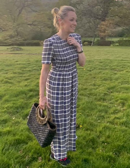 Baum und Pferdgarten Adamaris Dress - White/Navy Check