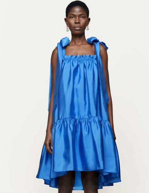 serena dress - blue