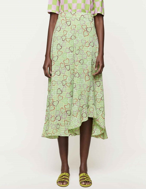 marigold skirt sustainable - hearts green