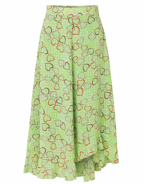 Stine Goya marigold skirt sustainable - hearts green