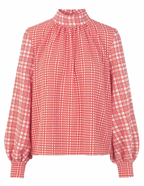eddy top sustainable - red plaid