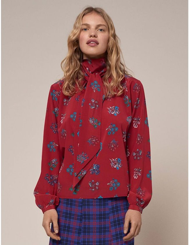 Charlotte Sparre pussybow blouse - red