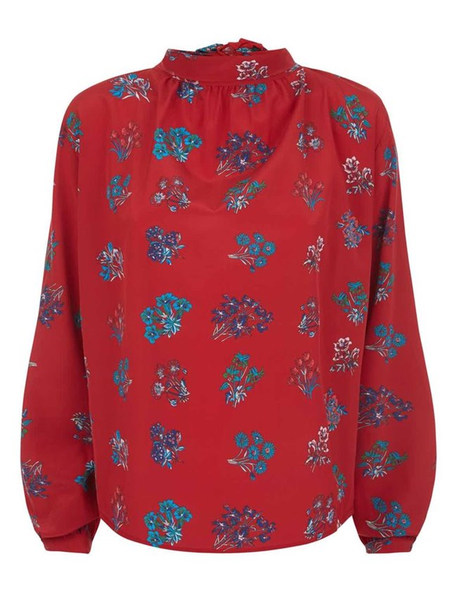 Charlotte Sparre pussybow blouse - red back