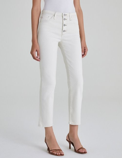 isabelle button - up jeans - modern white