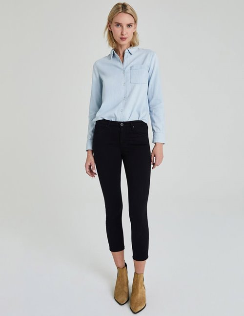 AG prima crop cigarette jeans - super black