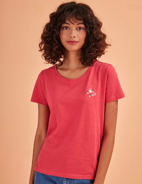kanelle t-shirt - strawberry pink
