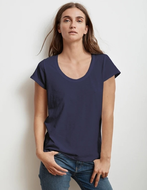 Velvet katie03 city slub tee - midnight navy