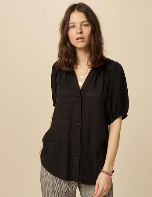 Sessun kiminzo blouse - black