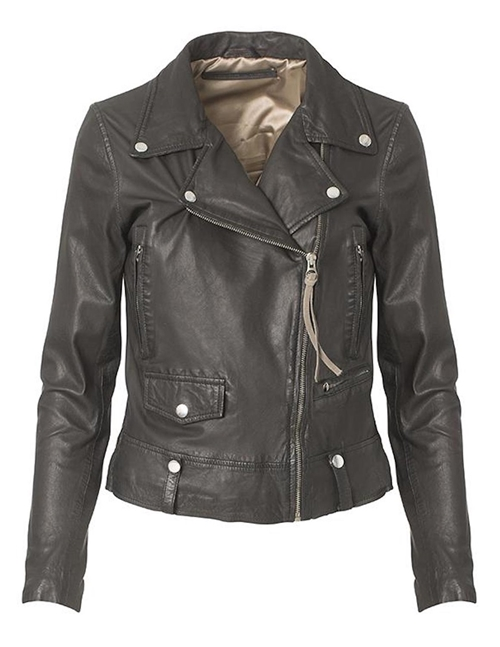 MDK Seattle New Thin Leather Jacket (Black)