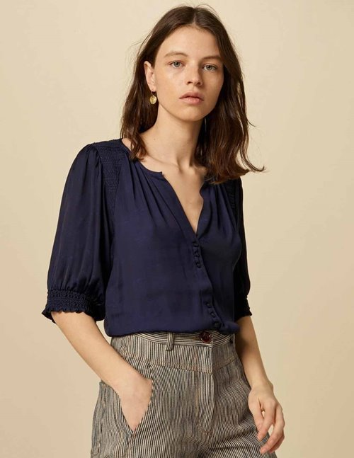 Sessun venusia blouse - indigo blue