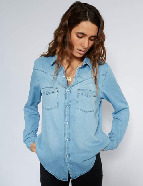 sol denim shirt - blue