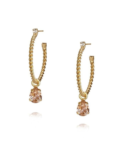 nani earrings - gold / vintage rose