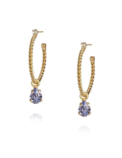 Caroline Svedbom nani earrings - gold / provence lavender
