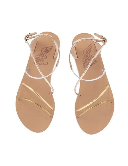 Ancient Greek Sandals meloivia sandals - metallic mix