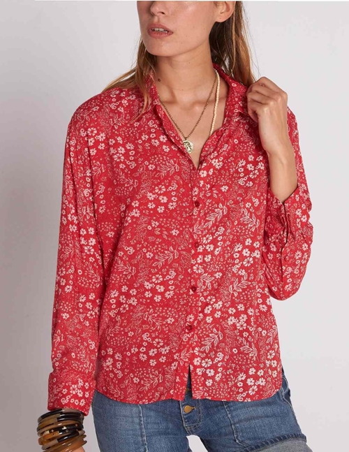 Swildens balzac shirt - red