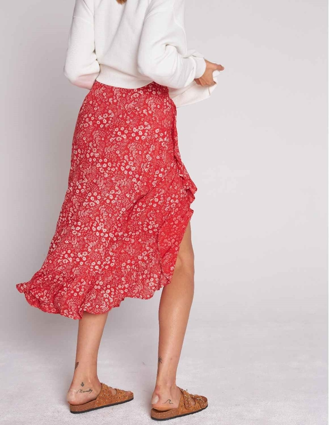 Swildens barisa wrap skirt - red side