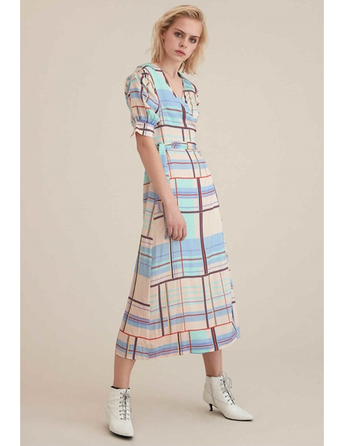 Gestuz ambina dress - multi check
