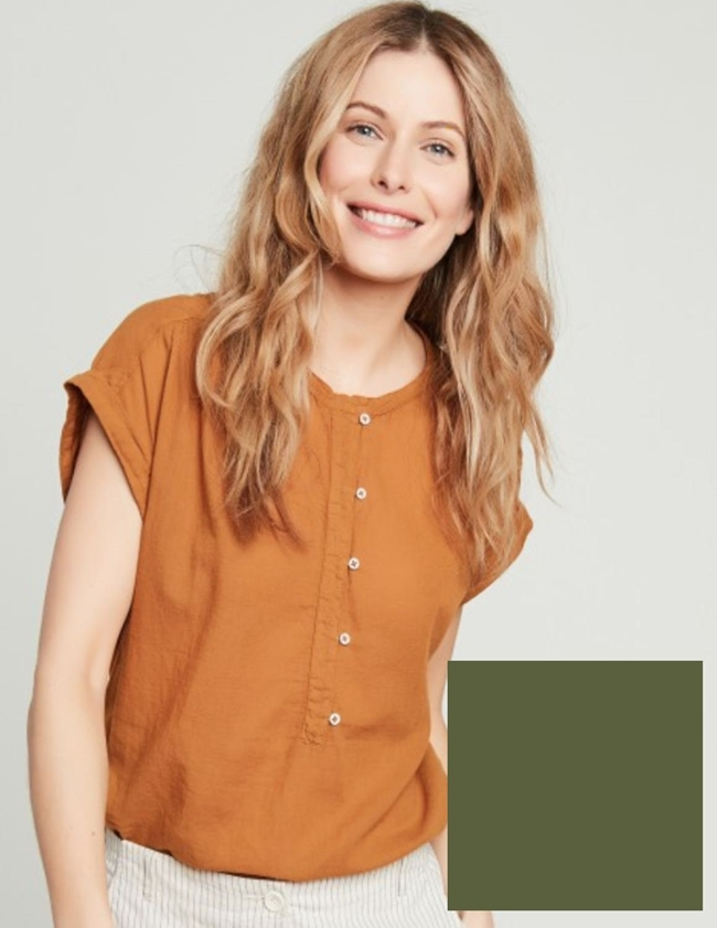 Hartford teramo top - army green