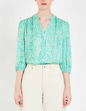 Pyrus solace blouse - new animal spearmint
