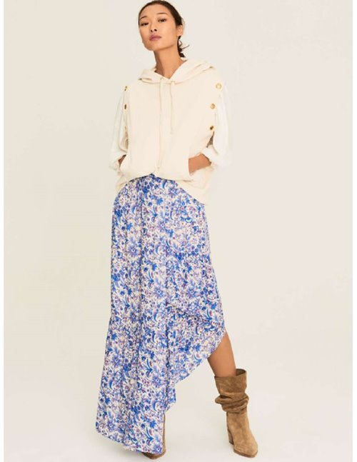 ba&sh billie skirt - ecru / blue