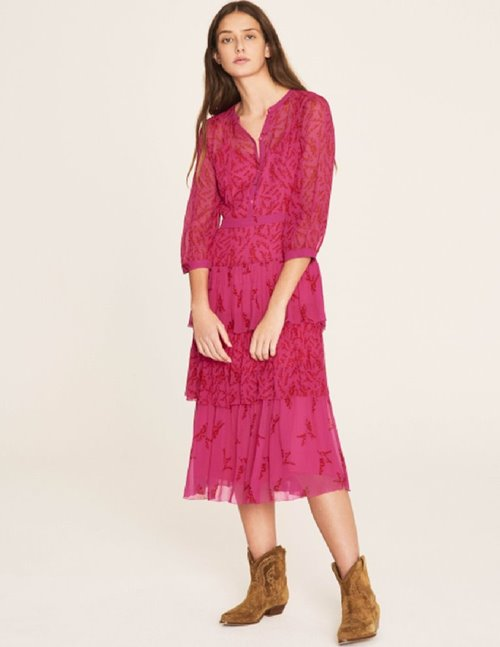 morris dress - fuchsia pink