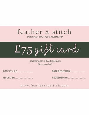 gift card £75 (redeem in shop)