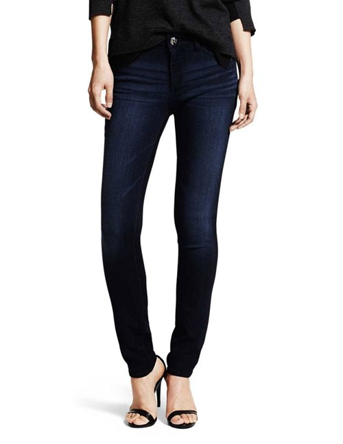 florence mid-rise skinny jeans - wooster / dark blue