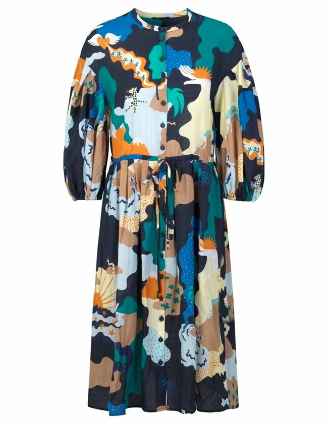 Stine Goya india sustainable dress - landscape back