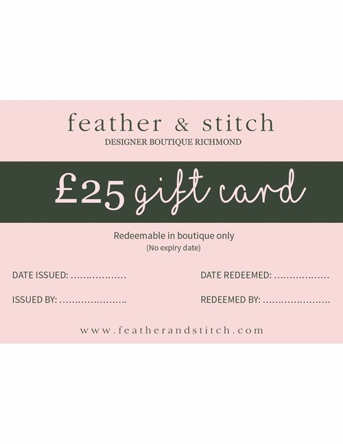 Feather & Stitch gift card £25 (redeem in shop)