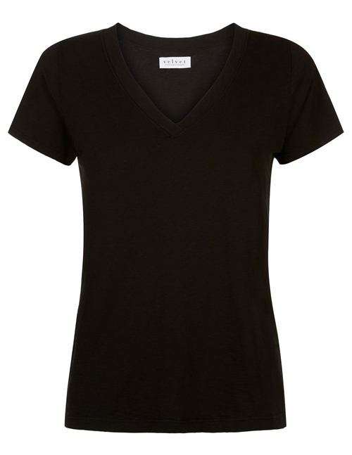 Velvet jill03 city slub tee - black