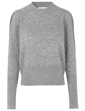 Munthe lot knit - grey back