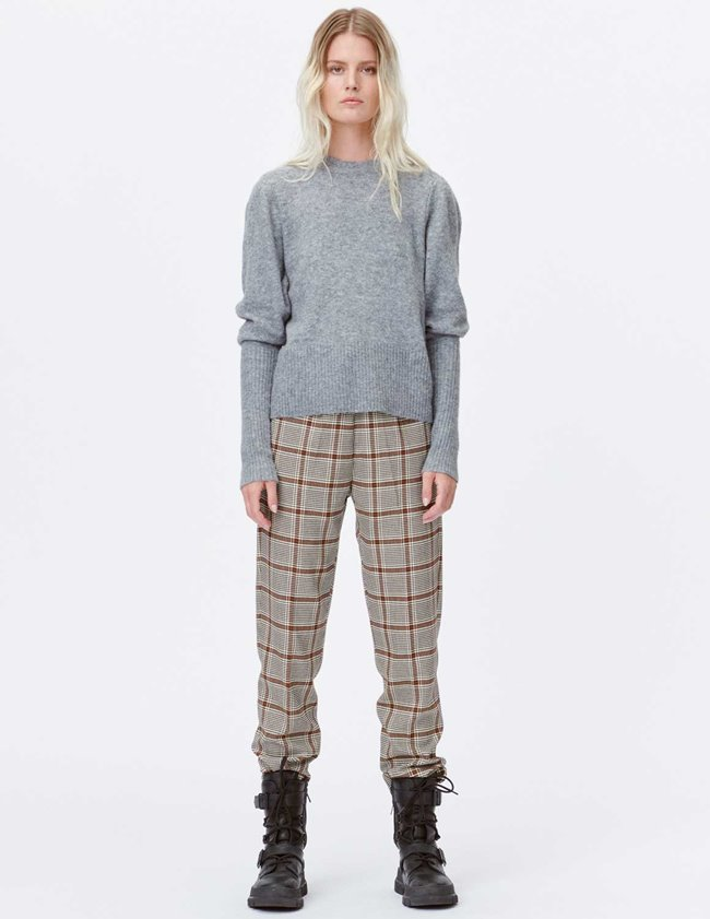 Munthe lot knit - grey detail
