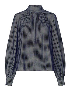 Stine Goya eddy top - grid detail