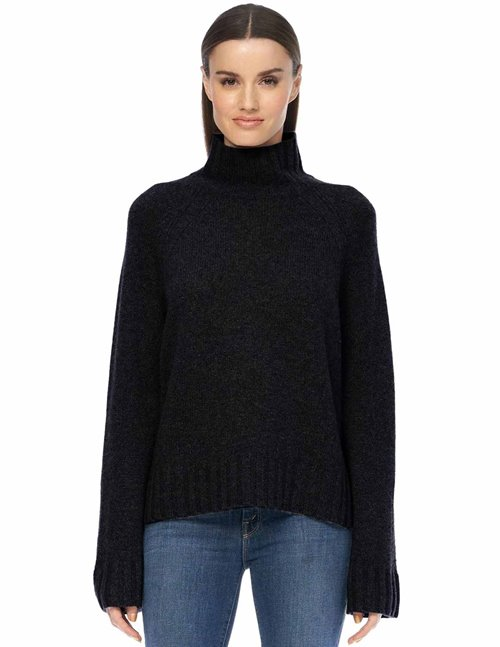360 Cashmere leighton jumper - black