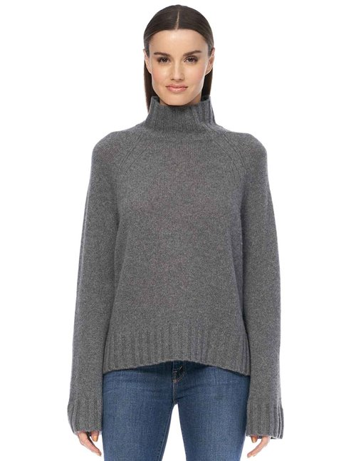 360 Cashmere leighton jumper - heather grey