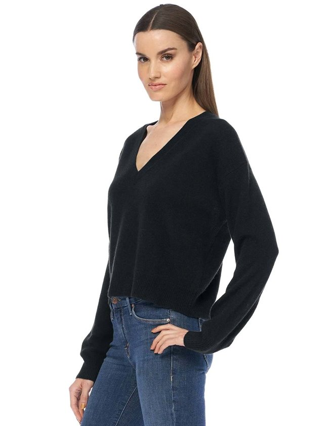 360 Cashmere niomi jumper - black back