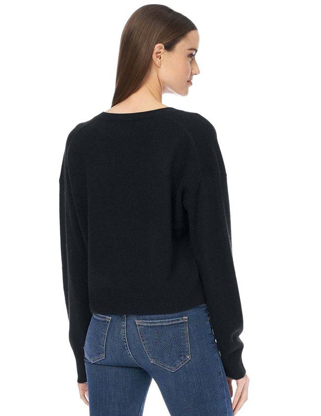 360 Cashmere niomi jumper - black side