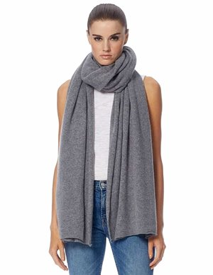 360 Cashmere linus scarf - heather grey