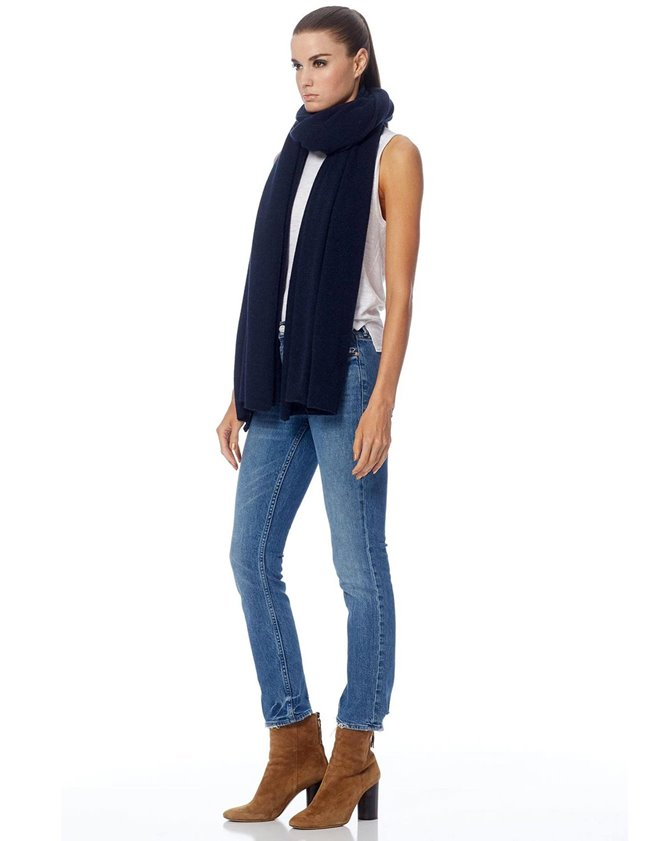 360 Cashmere linus scarf - navy back