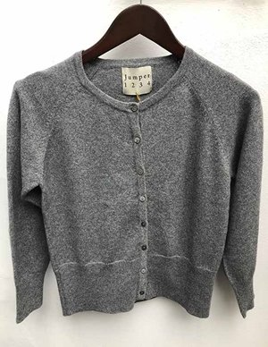Jumper 1234 lurex shrunken cardigan - grey detail